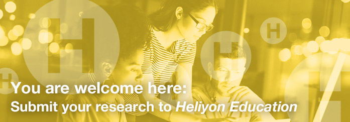 You are welcome here: Submit your research to Heliyon Education